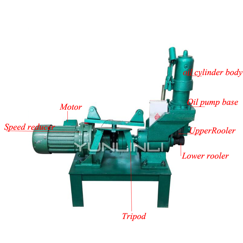 Hydraulic Grooving Machine 220V 65-200mm Electric Pressure Groove Machine  For Galvanized Pipe Iron Pipe Trough Press GH-BYGCJ-ZW