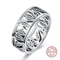 S Kwiat Liść Story Wyczyść CZ Pierścień dla Kobiet Biżuteria 925 Sterling Silver Wedding Ring