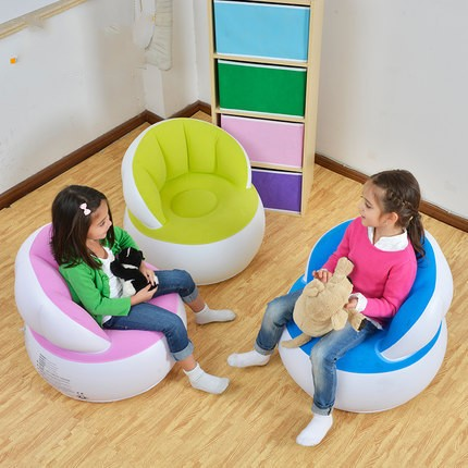Creative Cute Inflatable Baby Sofa Bath Stools Babies Learn Seat Baby Kids  Chair Small Inflatable Portable