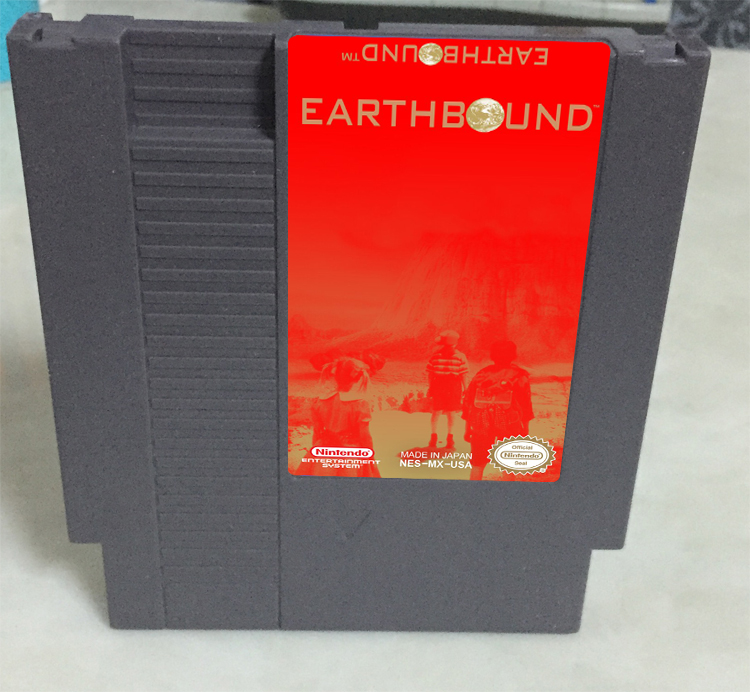 New arrival 72 pins 8 bit game cartridge free shipping — Earthbound