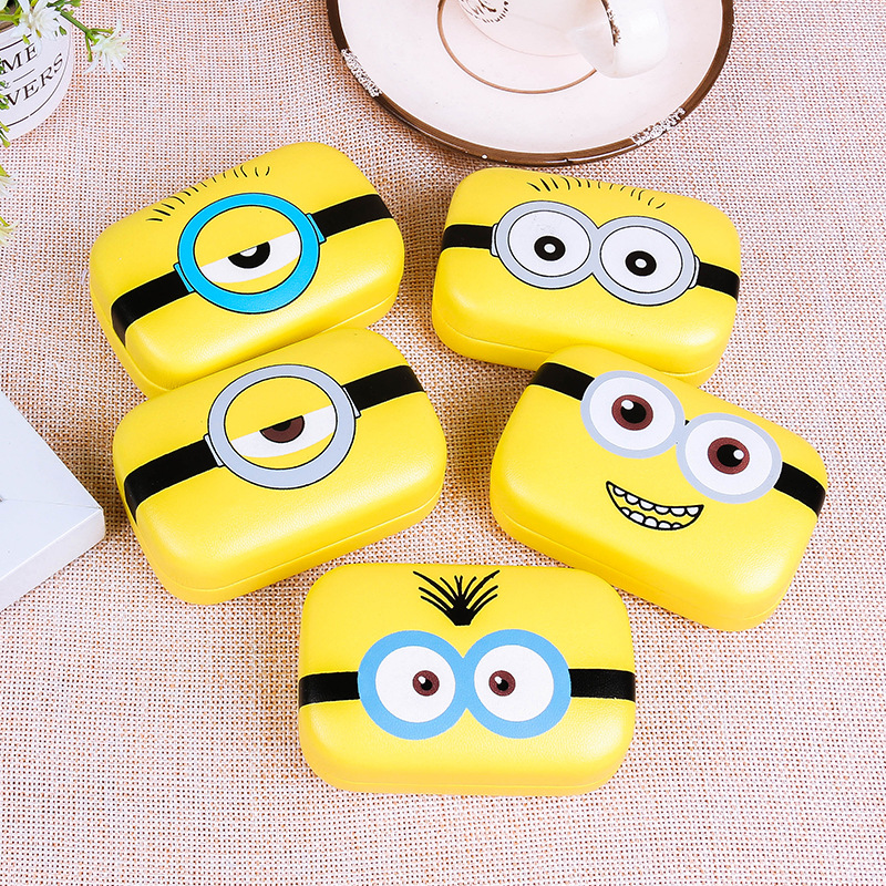 Christmas Gift cute DIY new sweet expression Minions series random patterns Contact Lenses Box & Case/Contact lens Case ST15888