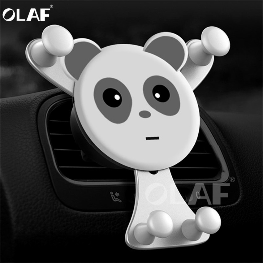 OLAF Gravity Car Phone Holder,Universal <font><b>Smartphone</b></font> Grip Air Vent Mount Mobil Phone Holder Stand For iPhone X 7 <font><b>Oneplus</b></font> <font><b>6</b></font> GPS Car image