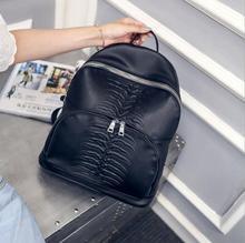 Новый ПУ кожа елочка шаблон рюкзак модный тренд женщин плечах сумка рюкзаки школьный