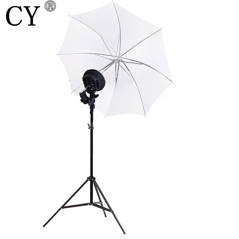 CY Photography Studio Lighting Kits E27 4 Lamp Head Holder with Umbrella and Light Stand Photo Studio Set Hot Selling flash photography photo portrait photography equipment 4 lamp softbox reflective umbrella photography light set background cp