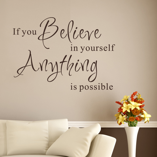 Inspirational Wall Words If You Believe In Yourself Anything Is