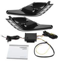 1 Pair Car Daytime Running Lights Turn Signal Bi Color LED Fog Lamp for Mazda 6 Atenza 16 18 Car Accessories