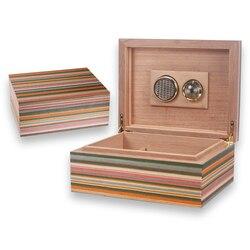 LUXFO 50CT humidificateur boîte cèdre bois doublé hygromètre humidificateur fumer cigare accessoires cadeaux