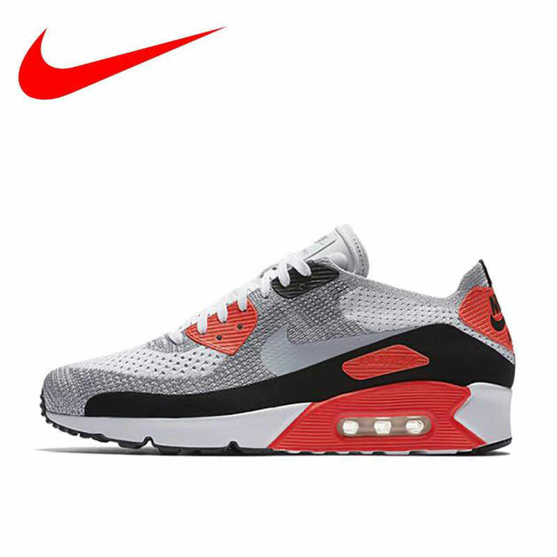 91b7ae43e67d2 Original Nike AIR MAX 90 Ultra 2.0 FK Men's Breathable New Arrival Official Running  Shoes Sports