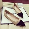 Mujeres pisos punta estrecha slip on zapatos mujer plus tamaño mmd001