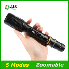 LED Flashlight 2×18650 3800LM Torch 5 Modes Zoomable Tactical CREE XML T6 Leds Torch Lighting For Outdoor Camping