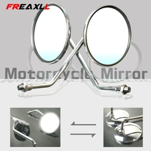 Motorcycle Rearview Mirrors 8/10mm Retro Stainless Steel Side Mirror FOR SUZUKI B-KING1300 HAYABUSA/GSXR1300 GSX1400 GSF650 GSF цена 2017