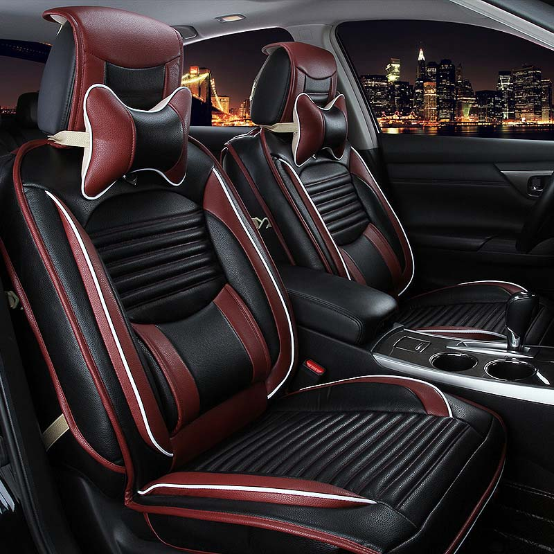 3d Style Leather Universal Car Seat Covers Luxury Sport Car Seat