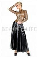Красивый латексный длинный костюм/юбка, комплект одежды с топом и длинной юбкой