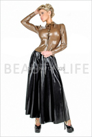 Latex nice long suit/skirt, Dress outfit with top and long skirt whole sets