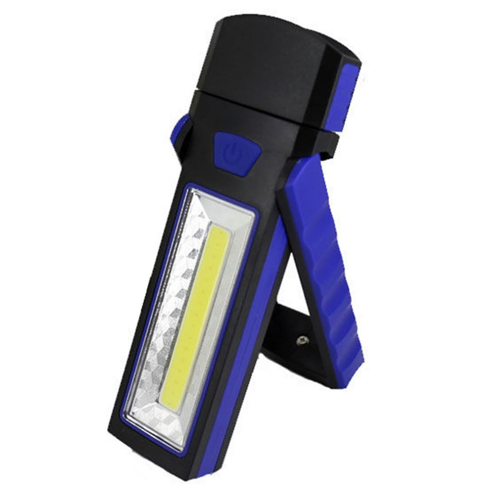 New USB Rechargeable LED Flashlight Torch Work Light Stand COB Magnetic Built-in Battery Bright Repair Work Lamp anjoet led work light magnetic emergency torch flash hanging lamp usb rechargeable flashlights built in 18650 for auto repair