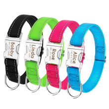 Personalized Dog Collar Durable Nylon Reflective