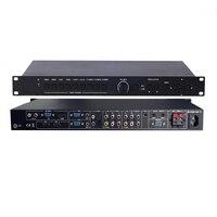 9 в 1 HDMI/VGA/компонентный/композитный AV HDMI переключатель скалер Презентация коммутатор с HDMI и VGA out + цифровой усилитель