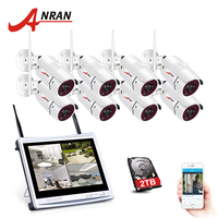 2016 New Plug And Play 8CH Wireless Surveillance System 10 LCD NVR 2TB HDD 720P HD