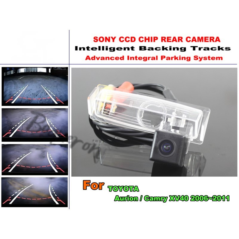 For TOYOTA Aurion / Camry XV40 2006~2011 Intelligent Car Parking Camera / with Tracks Module Rear Camera CCD Night Vision
