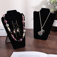 2019 new Flannelette necklace displays pendant bracelet display board wholesale display shelf items of jewelry boxes