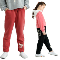Fashion Kids Pants Baby Girl Winter Clothes Cotton Thicken Warm Casual Loose for Boys Pans Letter 3y 12y