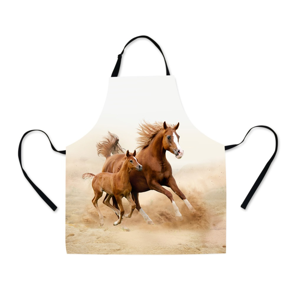 Buy Horse Printed Waist Apron for Men Cool Adjustable Kitchen Cooking Apron Cotton Designer Long Garden Grill Christmas Apron Ladies for $23.22 in AliExpress store