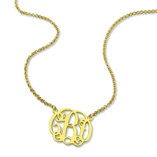 Personalised 925 Sterling Silver Monogram Necklace