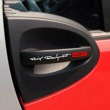 4 pz/set Car Styling Modo WRC World Racing Development Creativo Auto Porta Maniglia Decalcomanie Dual Color Design Decalcomanie Degli Autoadesivi