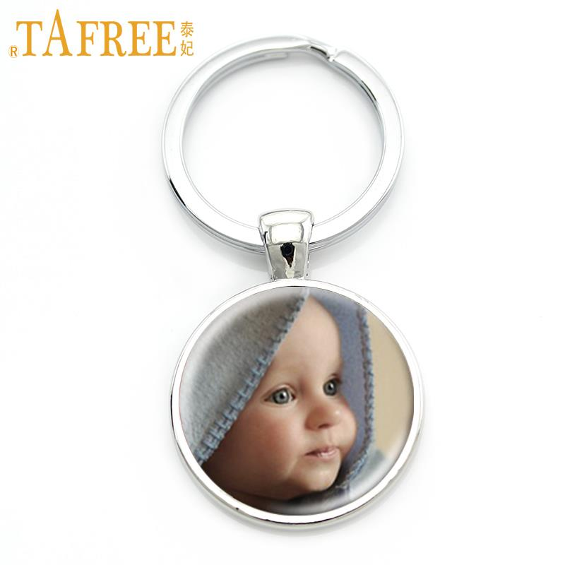 TAFREE Personalized Custom Keychain Photo Of Your Mum Dad Baby Children Grandpa Parents Custom designed Photo