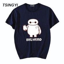 Tsingyi 5XL verano carácter gran héroe hombres Camiseta 100% algodón o-cuello manga corta Camiseta hombres camiseta Asia tamaño 947