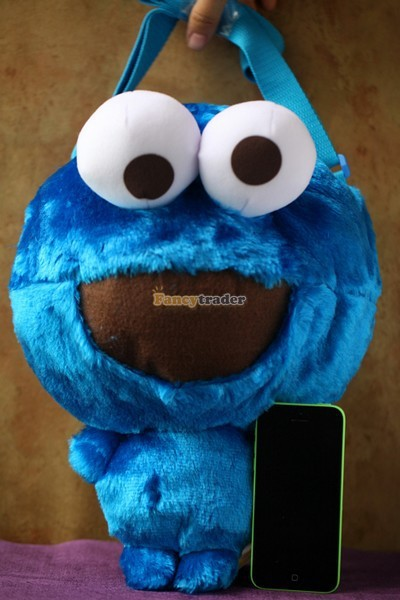 Fancytrader 15\'\' 36cm Copyrighted Plush Stuffed Cookie Monster Shoulder Bag, Free Shipping FT90380 (9)
