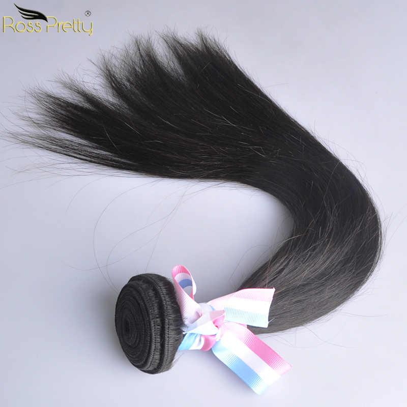 Brasilianische Menschliche Haarwebart Bundles Natürliche Farbe 1b Gerade Haar Verlängerung Ross Ziemlich Marke Nicht Remy Haar 1/3 /4 stück