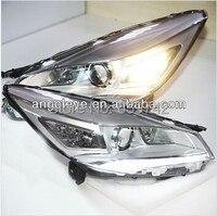 2013-2014 Rok Dla FORD KUGA LED Strip Lampy Głowy z Obiektywu Projektora Chrome Obudowa PW