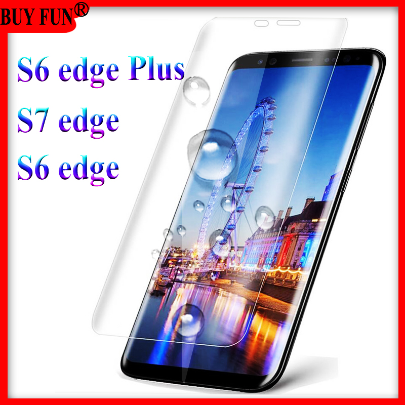 S6 S7 Edge Glas Curve Protector for Samsung Galaxy S7 Glass S 7 S 6 Edge plus Protective Film Phone Not Tempered Glass