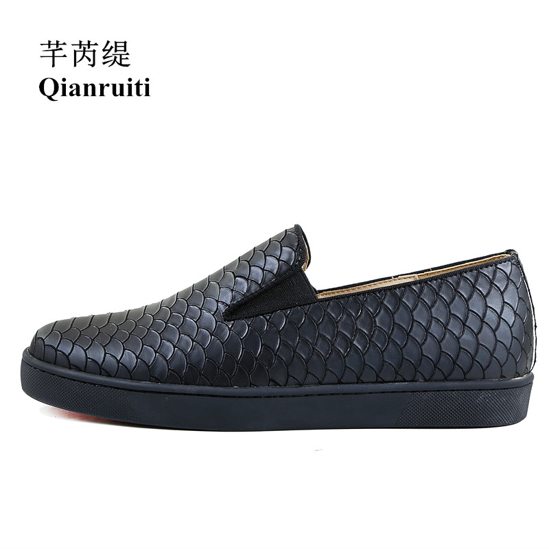 Qianruiti nouveauté en plein air hommes chaussures de loisir à la mode Design Simple talon plat sans lacet chaussures hommes chaussures vulcanisées - 3
