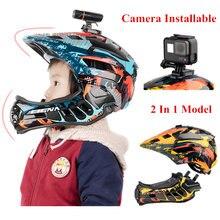 Детский велосипедный шлем с Полнолицевой камерой детские защитные