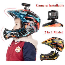 Kids Cycling FullFace Helmet Camera Installable Children Safety Sports Bicycle Helmets With USB Charging Taillight Bike Helmets
