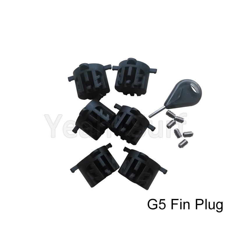 Surfboard Fin Plug Plast FCS G5 Finder Box Gratis Levering