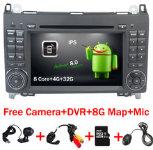 7 «1024*600 Android 8,0 dvd-плеер автомобиля для Mercedes/Benz Sprinter 2500 3000 Vito Viano W169 w245 W469 W906 gps A9 4 ядра Wi-Fi