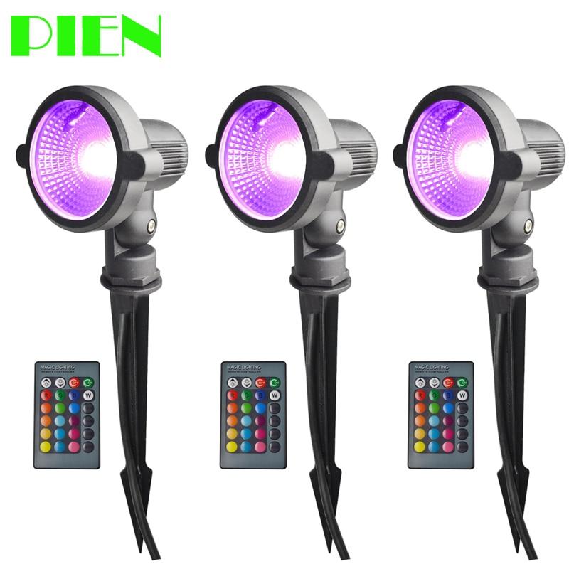 Lawn lamp RGBW LED Outdoor Garden light 12V 220V 110V Waterproof IP65 Spotlight 10W with Spike