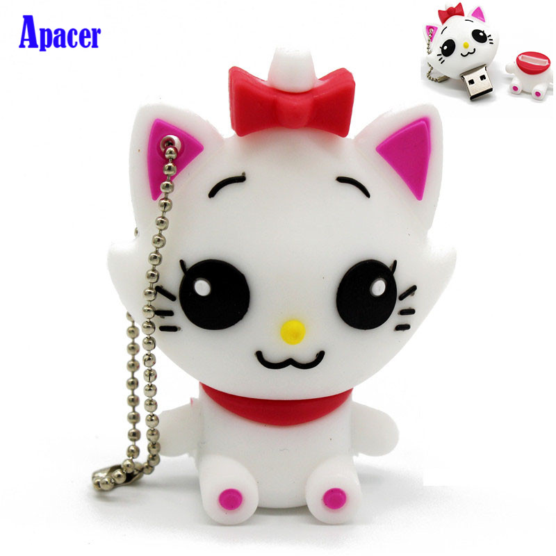 Apacer cute cartoon animal cat usb 4GB 8GB 16GB 32GB 64GB pendriveUSB Flash Drive creative gift