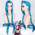 LOL heroes alliance Lolita Sijinkesi runaway grams of gold Jinx blue Cosplay wig