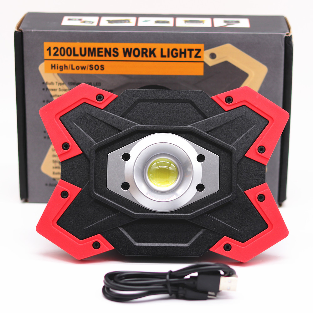 ZPAA Portable LED COB Work Lamp Light for Camping,Hiking,Car Repairing,Workshop Builtin Rechargeable Battery Waterproof Lantern folding cob led work light usb charging with magnets portable for camping car repairing jdh99