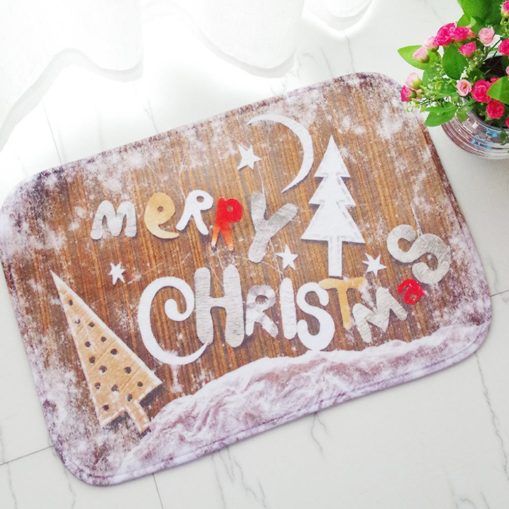 MDCT 40x60cm Merry Christmas Tree Snowflake Printed Floor Mats ...