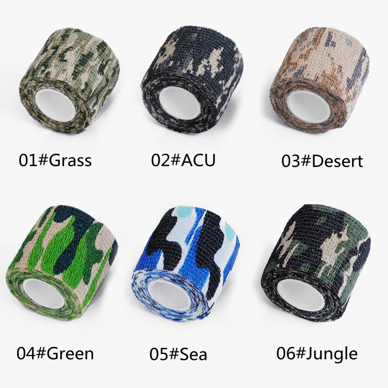 2.5cmx4.5m Army Camo Outdoor Hunting Shooting Tool Camouflage Stealth Tape Waterproof Wrap Durable Toy Gun Accessories Home