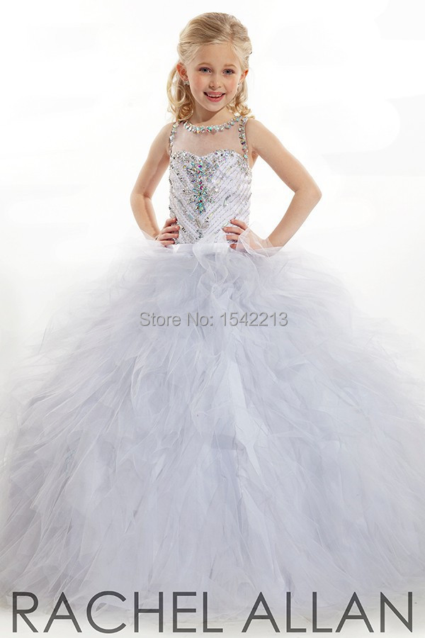 White Girls Pageant Dresses