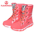 FLAMINGO high quality fashion winter children's shoes for girl 2015 new collection anti-slip waterproof snow boots 52-NC418