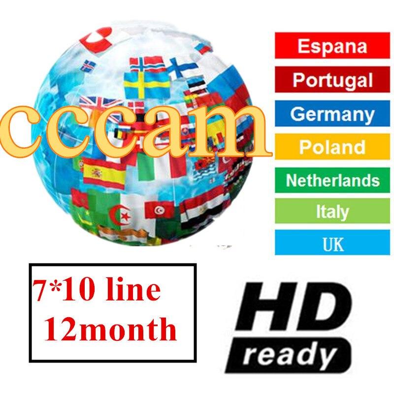 CCCAM ヨーロッパクライン 10 Clines 7 ラインスペイン英国フランスドイツオランダ Polsat ため Satellte 受信機デコーダ CCCAM -    グループ上の 家電製品 からの 衛星 TV 受信機 の中