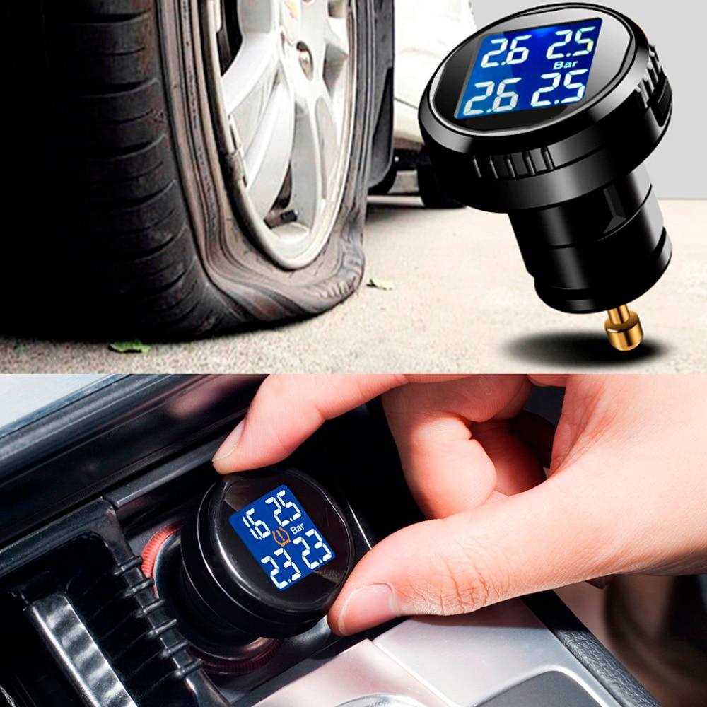 High Qulity Professional Tire Pressure Monitor System Cigarette Plug Charger with 4 External Sensors Alarm LCD Display cxa l0612 vjl cxa l0612a vjl vml cxa l0612a vsl high pressure plate inverter