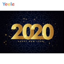 Yeele 2020 New Year Family Photocall Glitter Flower Photography Backdrops Personalized Photographic Backgrounds For Photo Studio